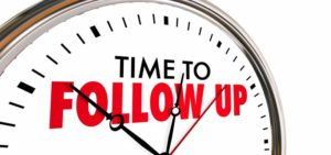 The Importance of the Follow Up
